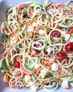 Spiralized Pasta Salad