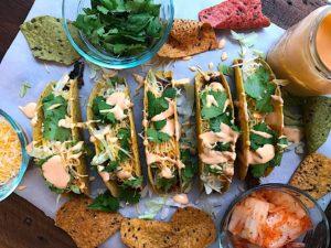 Kimchi Cheeseburger Tacos