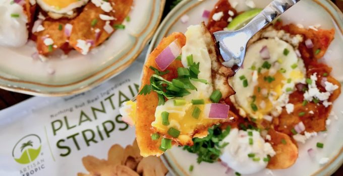 Plantain Chilaquiles with Fried Eggs