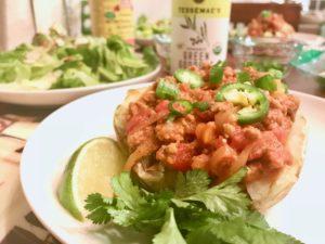 Whole30 Recipes: Turkey Chili over Baked Potatoes