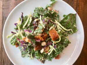 Winter Greens Kale Salad with Creamy Citrus Vinaigrette