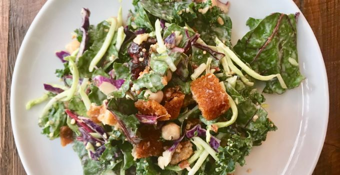 Winter Greens Kale Salad with Creamy Citrus Vinaigrette