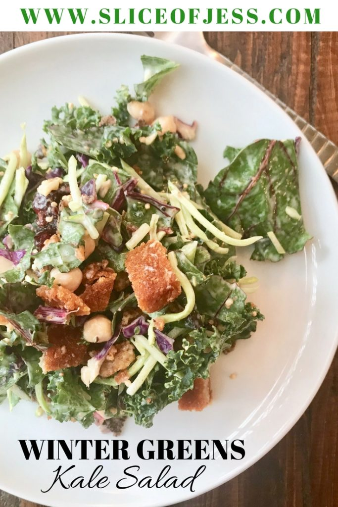 Winter Greens Kale Salad with Creamy Citrus Vinaigrette ...