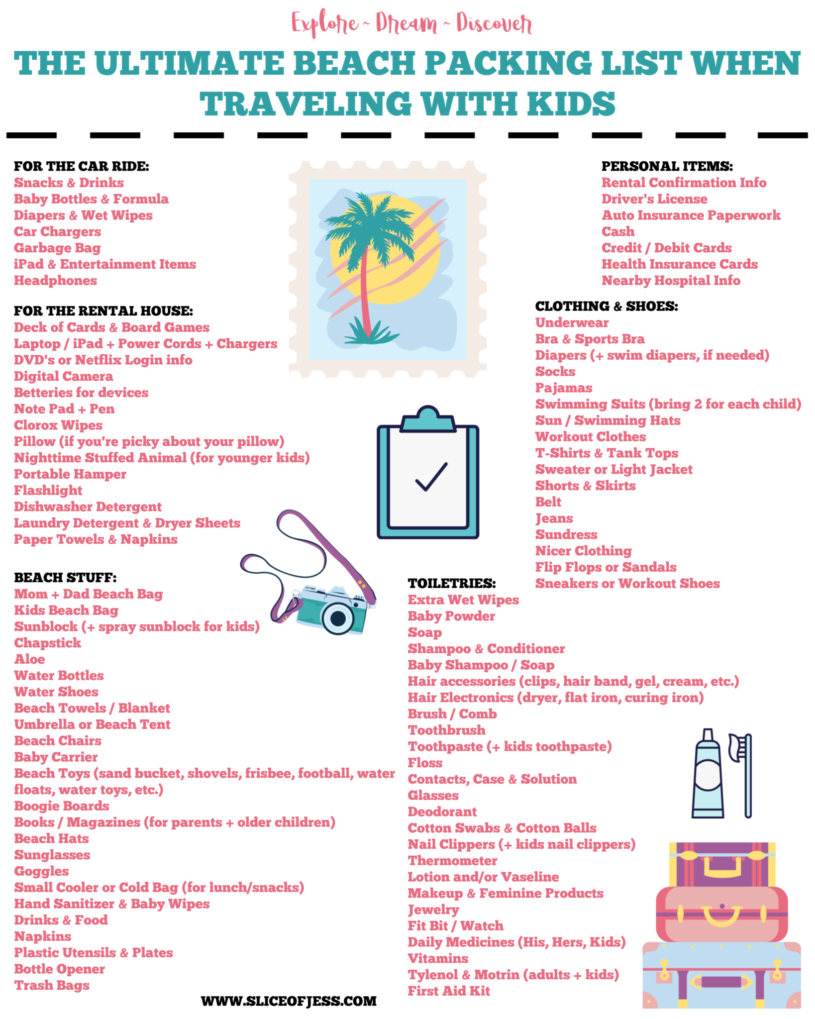 the ultimate beach packing list when traveling with kids